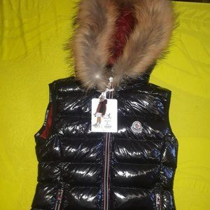 MONCLER WOMEN BLACK BRIGHT FOUNTAIN VEST
